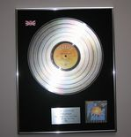 DEF LEPPARD - Pyromania PLATINUM LP PRESENTATION DISC